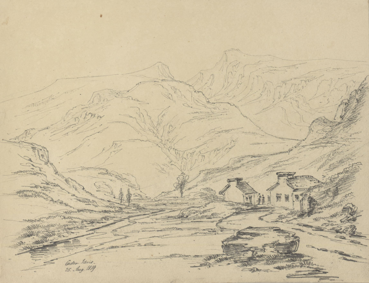 Sketch of Cadair Idris mountain