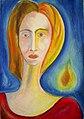 Dagmar Anders - Begegnung mit Modigliani 1972, Ölpastell.jpg