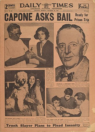 Chicago Daily Times - Front page for October 26, 1931