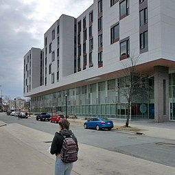 LeMarchant Place is one of the newest residence buildings at Dalhousie University Dal LMU Building.JPG