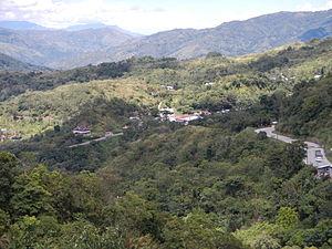 Dalton Pass - Dalton Pass road over the Caraballo Mountains.