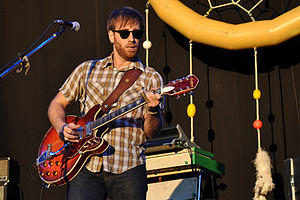 Dan Auerbach - Dan Auerbach of the Black Keys playing at Music Midtown in 2011