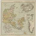 Danmark med bilande - Map of Denmark 19th century.jpg