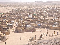 A refugee camp in Chad.