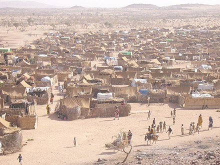 Darfur refugee camp in Chad, 2005 Darfur refugee camp in Chad.jpg