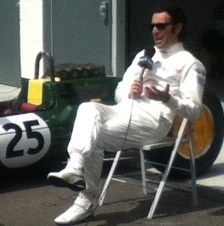 Dario Franchitti in the Silverstone pit lane for the 2014 British Grand Prix Dario Franchitti Silverstone 2014.JPG