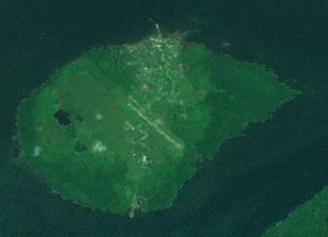 Daru Island - Daru Island from space