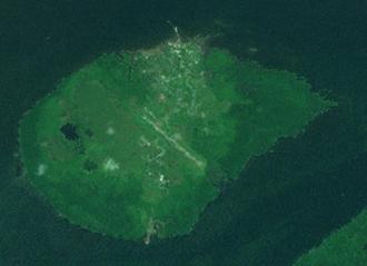Daru Island - Daru Island from space