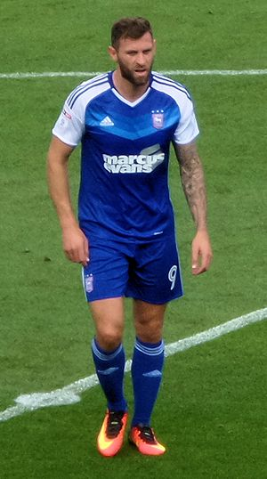 Daryl Murphy - Murphy playing for Ipswich Town in 2016