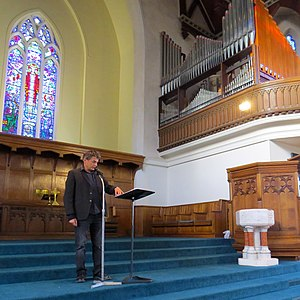 David Eggleton - In recital at Knox Church, Dunedin, March 2016