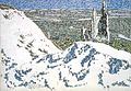 David Milne - Ablain-Saint-Nazaire Church from Lorette Ridge Looking toward Souchez and Vimy.jpg