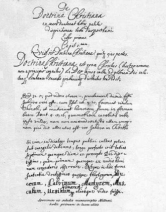 De Doctrina Christiana (Milton) - Title page of De Doctrina Christiana