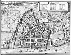 Überlingen 1640–50, Engraving by Mathäus Merian