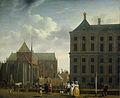 De Nieuwe Kerk en het stadhuis op de Dam in Amsterdam Rijksmuseum SK-A-305.jpeg