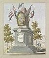 De Revolutie, decoratie op het Koningsplein, 1795 Tien platen van de decoraties bij het Alliantiefeest te Amsterdam in 1795 (serietitel), RP-P-1892-A-17498.jpg