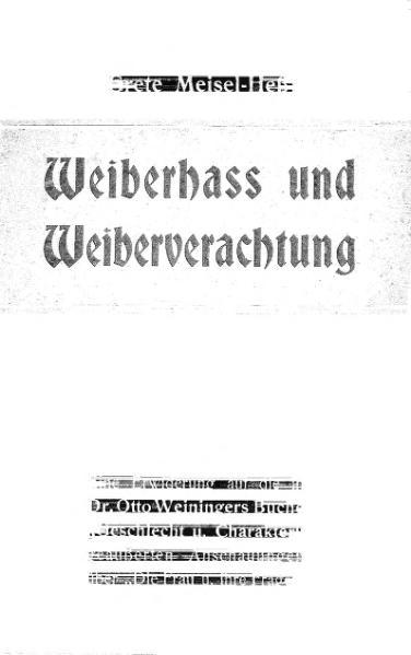 File:De Weiberhass und Weiberverachtung (Meisel Heß).djvu