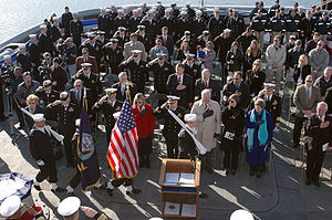 Ship commissioning - Image: Decommissioning of USS Grasp