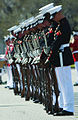 Defense.gov News Photo 120312-M-HZ905-684 - U.S. Marines with the Silent Drill Platoon attach bayonets to their M1 Garand rifles during a performance at Parris Island S.C. on March 12.jpg