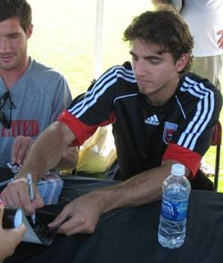 Dejan Jakovic signing autographs at the Maryland Soccerplex.jpg