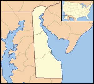 Locator Map of Delaware, United States