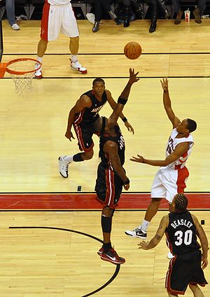 DeMar DeRozan - DeRozan shooting over Jermaine O'Neal in a 2009 game
