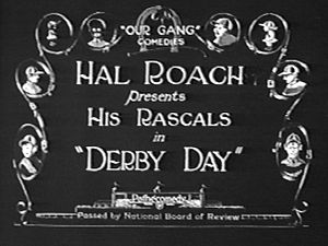 Derby Day (1923 film) - Title card for Derby Day