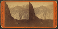 Devil'd Gate bridge. The peaks of the Wahsatch (Wasatch Range) in the distance, from Robert N. Dennis collection of stereoscopic views.png