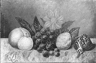 Stilleven met fruit en schelp