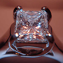 a pave the diamond setting image this with princess cut ring c engagement center shows