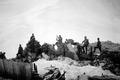 Die Reste der durch Feuer zerstörten Theodulhütte - CH-BAR - 3238936.tif