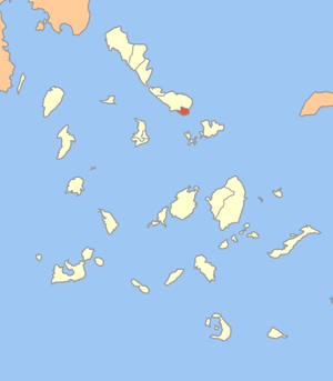 Locator map of Tinos municipality (Δήμος Τήνου...