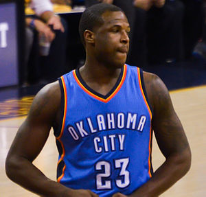 Dion Waiters - Dion Waiters with the Oklahoma City Thunder in 2015.