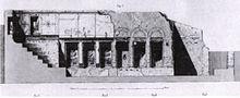 Disegno ricostruttivo dell'Auditorium di Mecenate