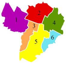 The six boroughs of Bologna. 9a98bcb539f