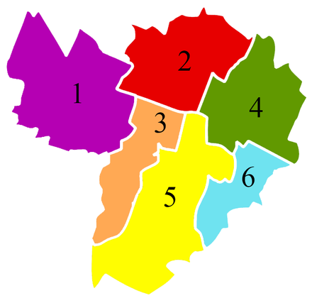The six boroughs of Bologna. Districts of Bologna.png