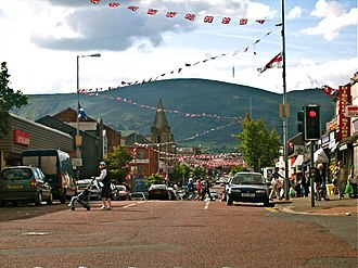 Shankill Road - Divis Mountain from the Shankill.