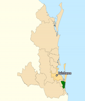 Division of Fadden - Division of Fadden in Queensland, as of the 2016 federal election.