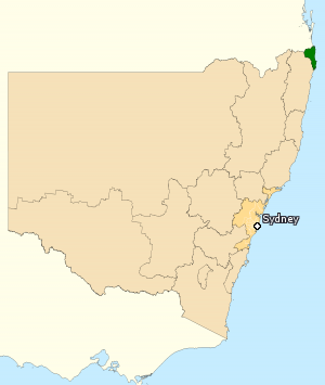 Division of Richmond - Division of Richmond in New South Wales, as of the 2016 federal election.