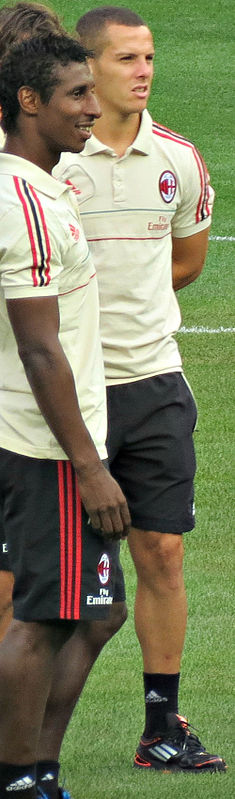 Djamel Mesbah and Kévin Constant with Milan.jpg