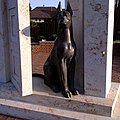 Dog in door by Lajos Orr in Egregy, Hévíz, Hungary - panoramio (56).jpg