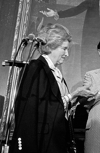 Dolores Hope - Dolores Hope on Capitol Hill, receiving an award for her husband, Bob Hope