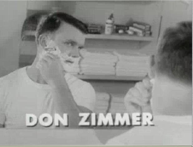 Don Zimmer shaving