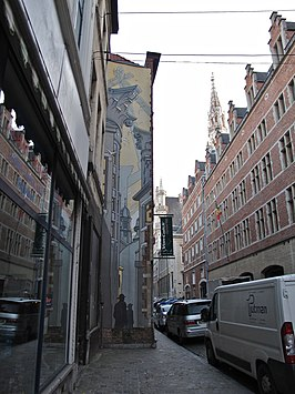 Stripmuur in Brussel.