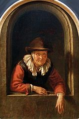 An Old Woman at a Window