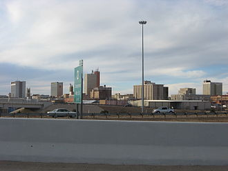 Downtown Lubbock seen from I-27 Downtown Lubbock 2008.jpg