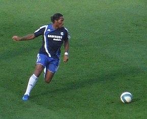 Drogba durante un allenamento col Chelsea