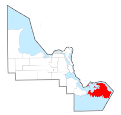 Location within Chippewa County