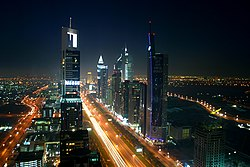 Dubai's nightime skyline