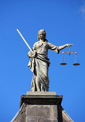 Evidence - The balance scales seen in depictions of Lady Justice can be seen as representing the weighing of evidence in a legal proceeding.