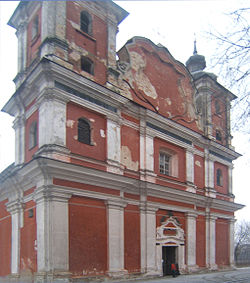A catholic church in Dubrovytsia